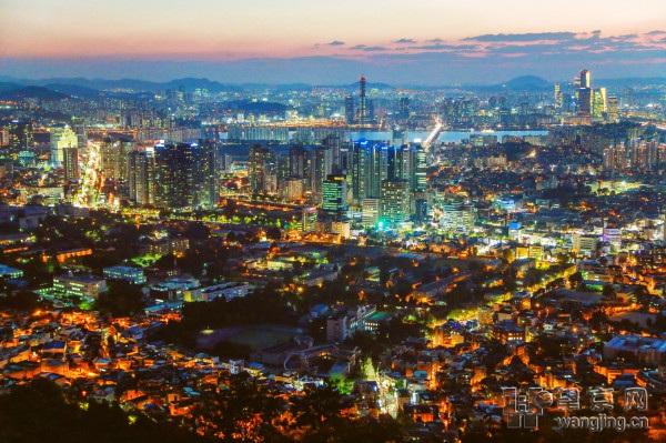 韩国梦/塔外的风景,首尔的夜景很美丽